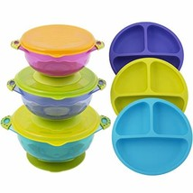 Toddler Plates and Bowls | Baby Bowls with Suction in 3 Different Sizes ... - $43.49