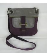 Fossil Key Per PURSE Purple Quilted Crossbody Shoulder Bag Handbag Pocketbook - £18.65 GBP
