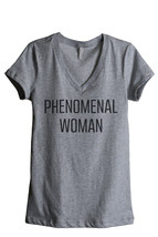 Thread Tank Phenomenal Woman Women's Relaxed V-Neck T-Shirt Tee Heather ... - $24.99+