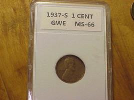 1937-S San Francisco Mint Copper Lincoln Wheat Cent ... # 10  - $8.56