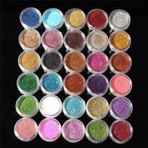 30pcs Mixed Colors Powder Pigment Glitter Mineral Spangle Eyeshadow Makeup Cosme - $9.58