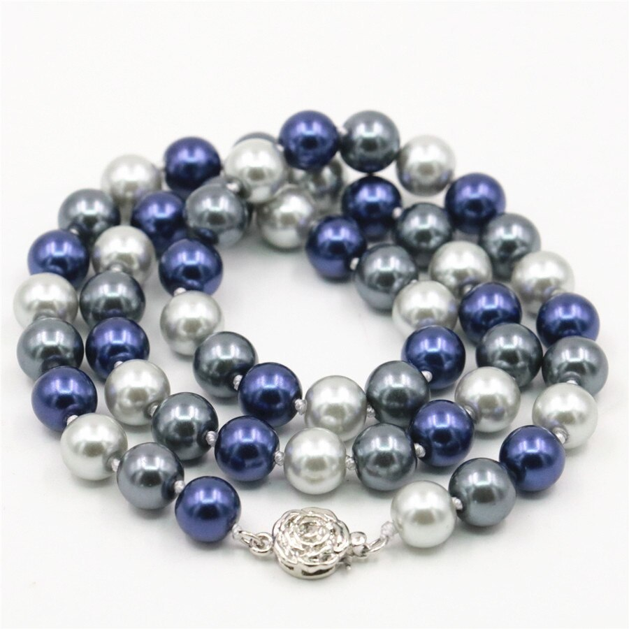 Primary image for Wholesale And Retail Product Beautiful Noble 8MM Mixed Color Ball Shell Pearl Lo
