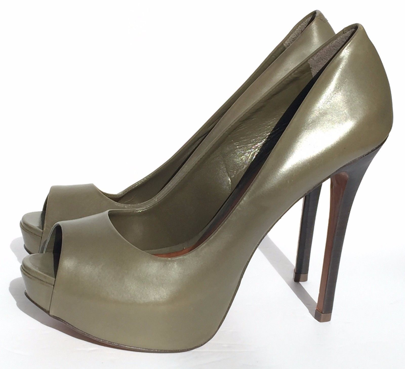 2485b609d9fc Aldo Olive Green Leather Open Toe Platform and 50 similar items