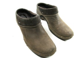 Merrell Drizzle Womens Taupe Leather Studded Slip On Clogs Size US 8 EUR... - $24.25