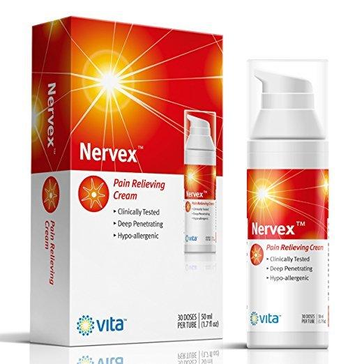 1.7 Oz Nervex Hypoallergenic Neuropathy Pain Relief Cream Treatment w/ Vitamins