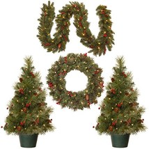 National Tree Holiday Decorating Assortment with 2 3 Foot Entrance Trees, 1 9 Fo image 1
