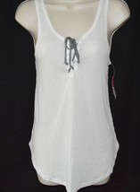 Women's Xhilaration ™Sleep Tank Top With Drawstring In Front Fresh White Size S image 1