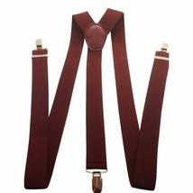 35mm Mens Braces Suspender Y Shape Clip On Adjustable Elastic for Trouse... - $6.16