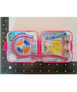 Polly Pocket Bluebird 1989 POLLY WORLD ROCKET RIDE Pink Square COMPACT N... - $8.49