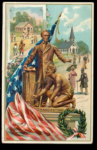 Abe Lincoln Patriotic Tucks 1913 Postcard - $7.95