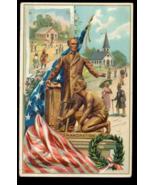 Abe Lincoln Patriotic Tucks 1913 Postcard - $7.95