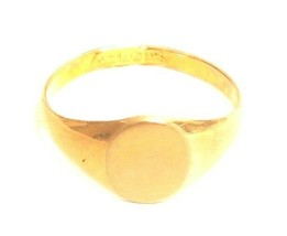Vintage Blank Monogram Gold Plated 18KT HGE ESPO Esposito Signet Ring A807 - $18.00