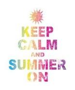 lkeep calm and summer on hoodie - $24.99