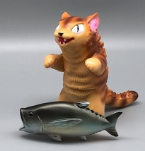 Max Toy Golden Brown Striped Negora w/ Fish image 5