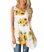 Viracy Women's Summer Casual Sleeveless Swing Tunic Floral Tank Top Medi... - $34.94