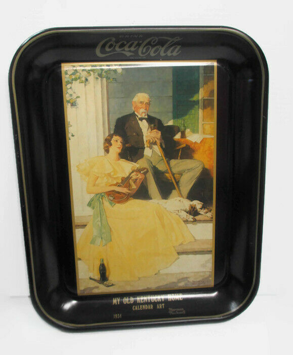 Coca-Cola Tray My Old Kentucky Home Norman Rockwell  UNIQUE ITEM