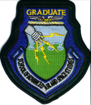 USAF School of Advance Air and Space Studies Graduate On Leather Patch V... - $14.84