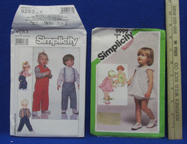 2 Vintage Toddler Simplicity Sewing Patterns Romper Sundress Bloomers Ve... - $9.89