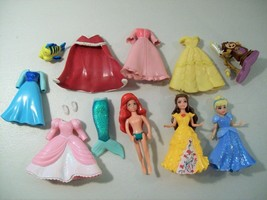 LOT OF 3 DISNEY PRINCESS POLLY POCKET SIZE DOLLS BELLE CINDERELLA ARIEL ... - $21.51