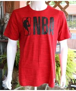 NBA Mens Graphic Tee Cotton Blend Red T-Shirt Size M L NWT - $20.39