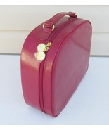 Vintage New Estee Lauder Womens Red Patent Leather Zipper Hat Luggage 12... - $32.50