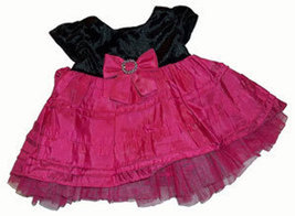 Baby Girls Black and Raspberry Dress - $14.00
