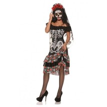 Underwraps Queen of The Dead Muerta Spooky Halloween Adult Women's Costu... - $33.99+