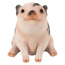 Pacific Giftware PT Realistic Look Statue Farm Baby Pig Piglet Sitting Home - $19.79