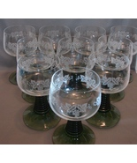 10 Zweisel Glas German Roemer Ribbed Wine Goble... - $95.00