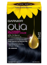 Garnier Olia Oil Powered Permanent Hair Color/Dye 2.1 Soft Blue Black - $13.02