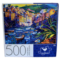 Cardinal Games Puzzle 500 Pieces Boats and Old Town 11 × 14 - $22.47