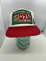 Vintage Red Man Chewing Tobacco Mesh Trucker Patch Snapback Hat Made in ... - $64.34