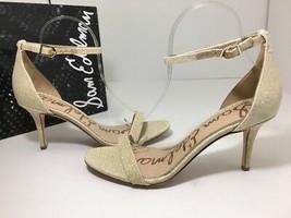 564cd6986 Sam Edelman Patti Women  39 s High Heels Sandals Jute Beige Mesh Fabric Size