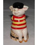 "Danbury Mint Piggies ""France's Bacon"" Pig Figurine 1 of 25 Pig Statue Pi... - $1.99"