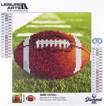 "Leisure Arts Sparkle Art Diamond Paint Kit 10.63""X10.63""-Football - $15.55"