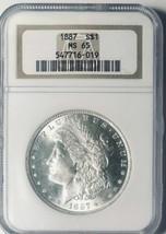 1887 Morgan Silver Dollar - NGC  MS-65 - Mint State 65 - $230.67
