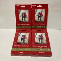 Lot Of 4 Canon Plus Glossy II PP-301 Inkjet Print Photo Paper, 400 Sheets Total - $26.99