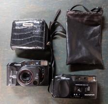 Olympus Trip Junior & Canon Vintage Film Camera Lot UNTESTED + Snakeskin... - $2.99