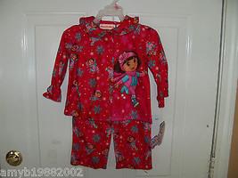 Nick Jr. Dora the Explorer Red  2pc PJ's  Size 18 months Girl's NEW LAST... - $16.20