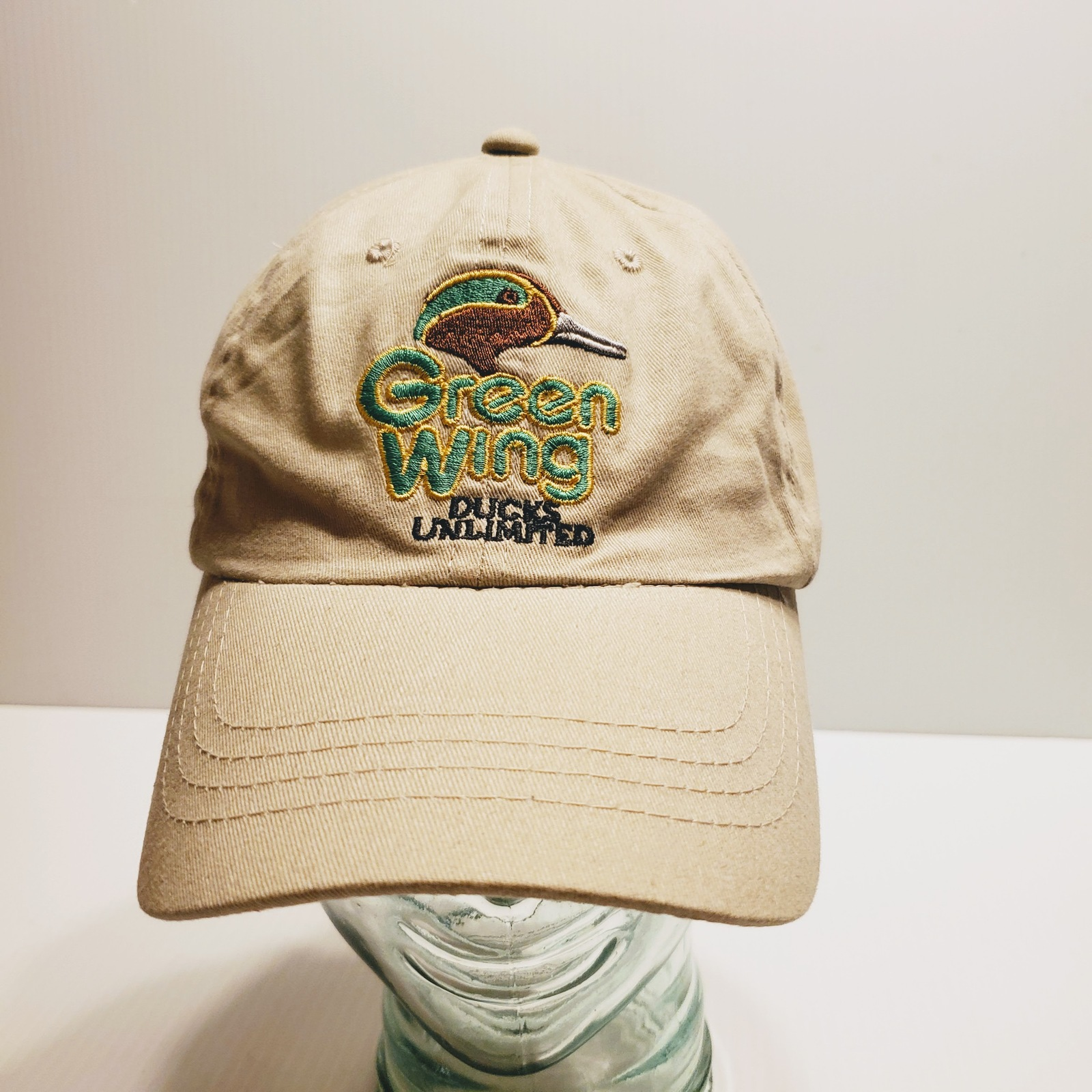Green Wing Ducks Unlimited Adjustable Hat One Size Fits Most. Dorfman Pacific.