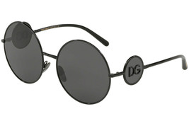 Dolce&Gabbana Mujer Gafas de Sol DG2205 01/87 Negro Lente Gris 59mm - $195.01