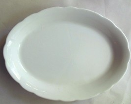 "Vintage Buffalo China Serving Tray White 8 x 11.5"" Heavy Restaurantware - $19.00"