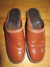 9A/COLE HAAN LIGHT BROWN LEATHER CLOGS/MULES/SLIP ONS/WOMENS/SIZE 8B! - $34.60