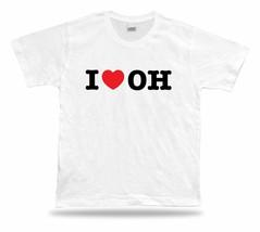 I-LOVE OH Ohio t-shirt heart Buckeye Cleveland Rocks Lake Erie Cavalier ... - $7.57