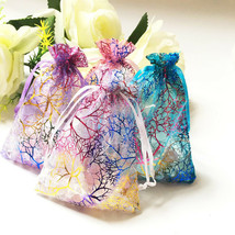 3x5 4x6 5x7 inch Coralline Organza Wedding Party Favor Gift Bags Jewelry... - $110.99