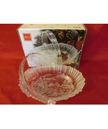Mikasa Winter Dreams Christmas Glass Bowl / Basket, Original Box - Disc.... - $187,04 MXN