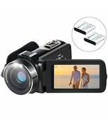 Video Camera Camcorder, Aabeloy YouTube Vlogging Camera HD 1080P 24.0MP ... - $59.34