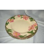 3 Vintage Dinner Plates Franciscan China Stoneware Desert Rose USA NICE - $64.35