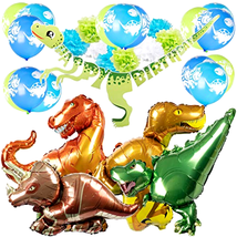 Party Decorations Dinosaur Party Supplies Happy Birthday Banner Boys Bal... - £21.64 GBP