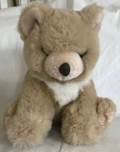 "VINTAGE FIESTA Sitting BEAR Tan Ivory 10"" PLUSH TOY 1989 EUC - $16.99"